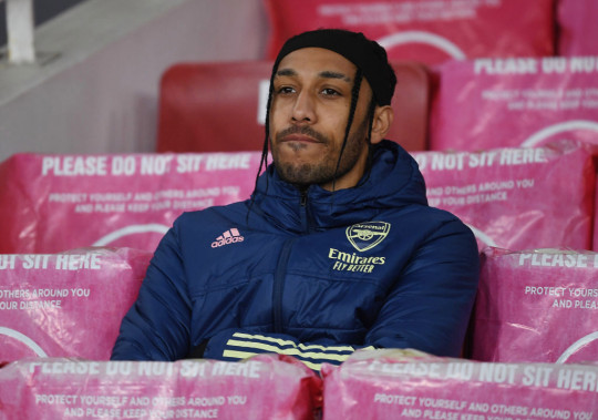 Pierre-Emerick Aubameyang has missed Arsenal's last three games and won't feature against Everton