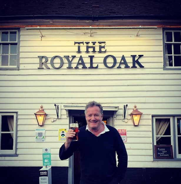Piers Morgan flees London and returns to his massive country house with pool
