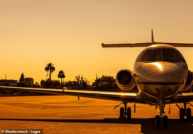 The richest one per cent of the population produces twice the carbon emission of the poorest 50 per cent , according to the UN. A new report wants to tackle frequent fliers, pictured