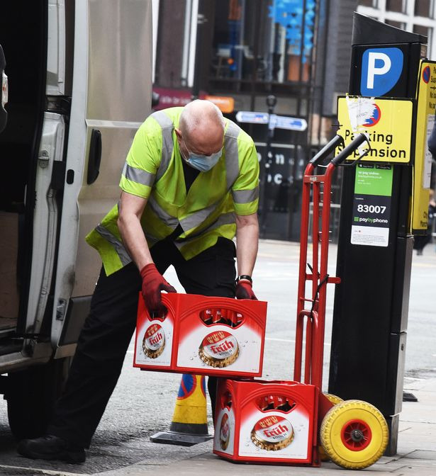 A pub in Manchester took delivery of hundreds of bottles of ale