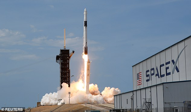 Deadline initially reported that the winner will take a seat on a SpaceX Crew Dragon (pictured) capsule for the voyage to the ISS, but Axiom told CNBC that the launcher has yet to be determined