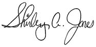 Shirley A. Jones signature