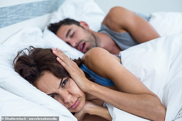 Up to five million people in Britain, mainly men, snore heavily – a condition called sleep apnoea [Stock image]