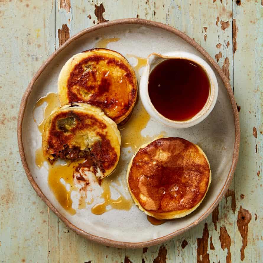 Nicola Lamb's stuffed souffle pancakes.