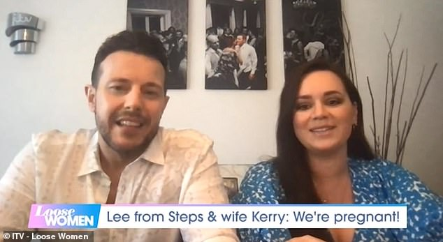 Exciting:Lee Latchford-Evans and his wife Kerry-Lucy Taylor have told of their joy at expecting a baby after a miscarriage