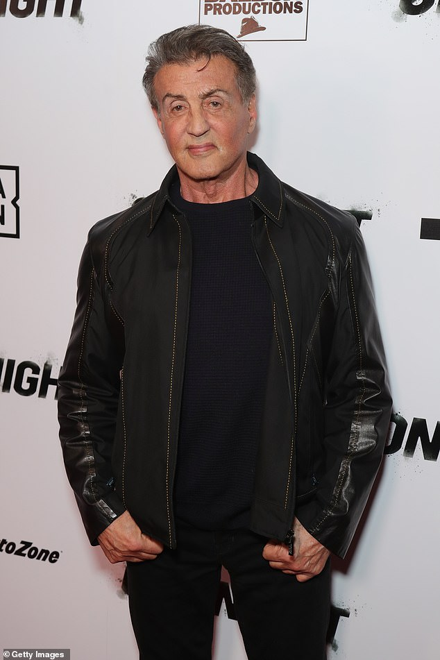 Fighting back: Sylvester Stallone, 74, said he was not a member of Donald Trump's Mar-a-Lago club in Palm Beach, after Page Six reported last week that he had joined the controversial club