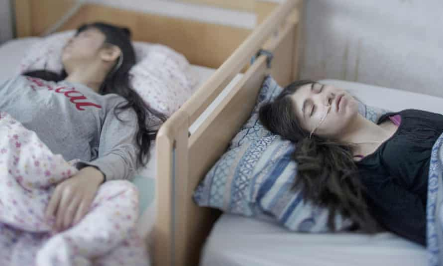 Two sisters are bedridden with 'resignation syndrome' in Horndal, Sweden, 2017.
