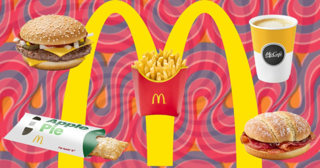 McDonald's food on a colourful background