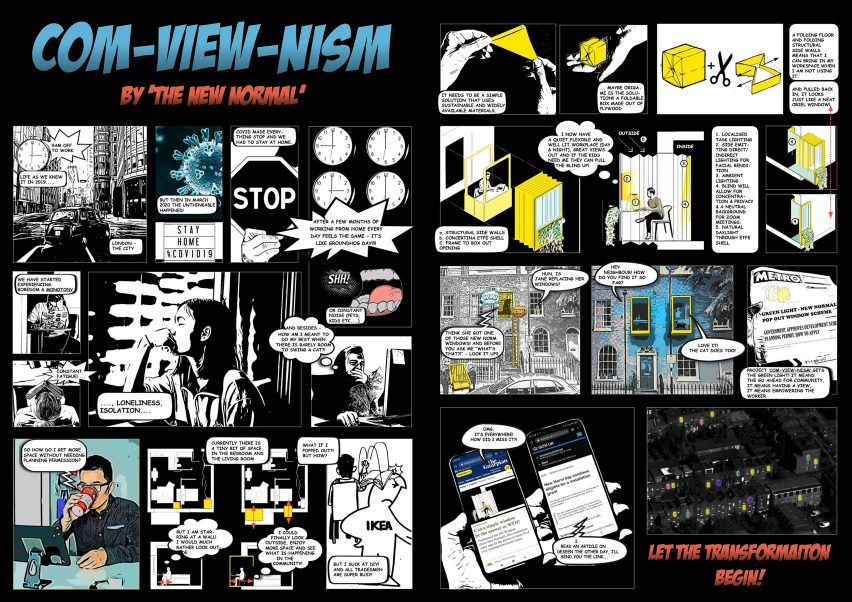A comic strip illustrating Com-View-Nism