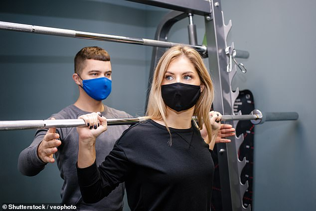 Wearing a cloth face mask while exercising leads to worse performance, according to the results of a small trial (stock)