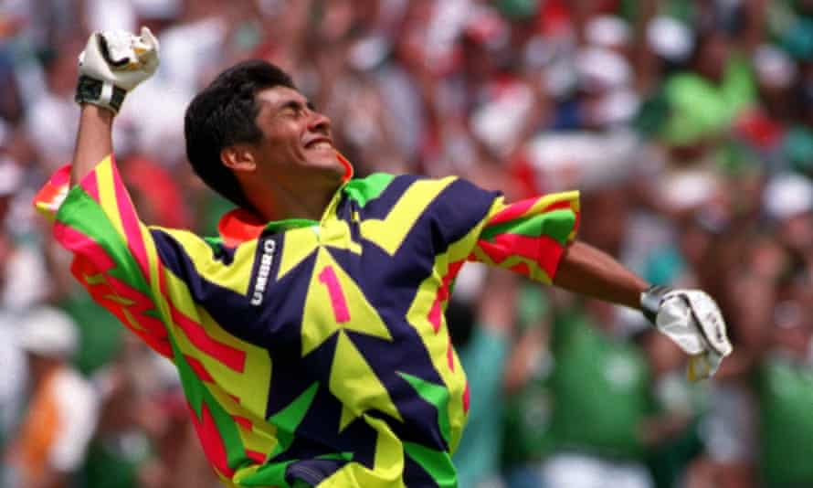 Former Mexico goalkeeper Jorge Campos was once a striker.