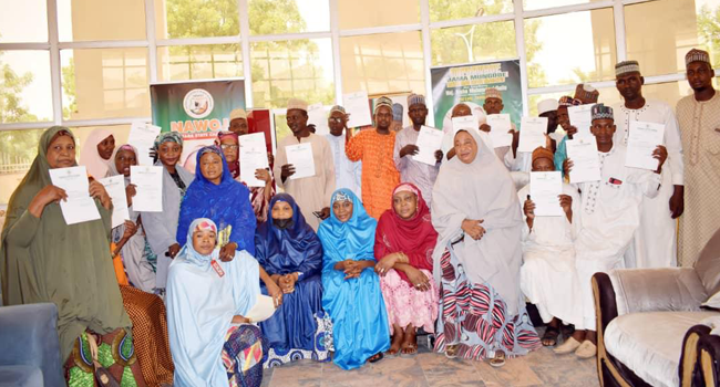 Miyetti Allah appointed political appointees in Zamfara State pose with the letters.
