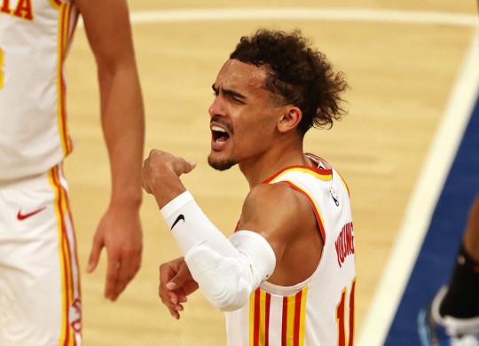Trae Young Atlanta Hawks v New York Knicks - Game Two