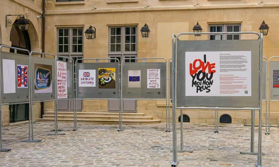 Artwork on display at the Hotel du Coulanges, Paris