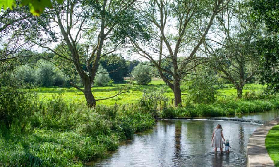 The River Darent at Eynsford, Kent.