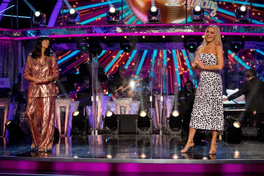 Tess Daly (right) on Strictly Come Dancing.