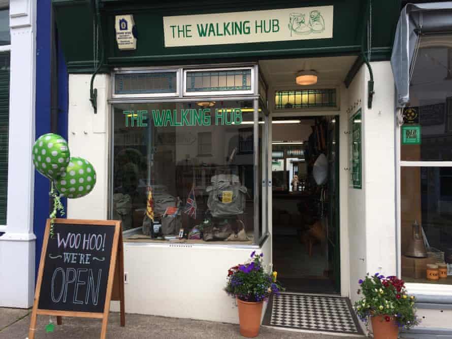 Exterior of the Walking Hub shop in Kington, UK