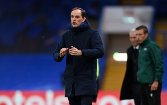Thomas Tuchel, Manager of Chelsea gives his team instructions during the UEFA Champions League Semi Final Second Leg match between Chelsea and Real Madrid at Stamford Bridge on May 05, 2021 in London, England. Sporting stadiums around Europe remain under strict restrictions due to the Coronavirus Pandemic as Government social distancing laws prohibit fans inside venues resulting in games being played behind closed doors.