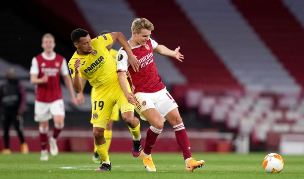 Martin Odegaard struggled to make an impact on the match