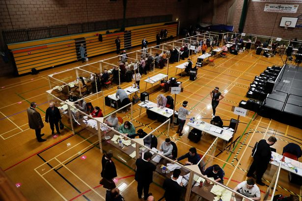 Ballots being counted at Mill House Leisure Centre in Hartlepool