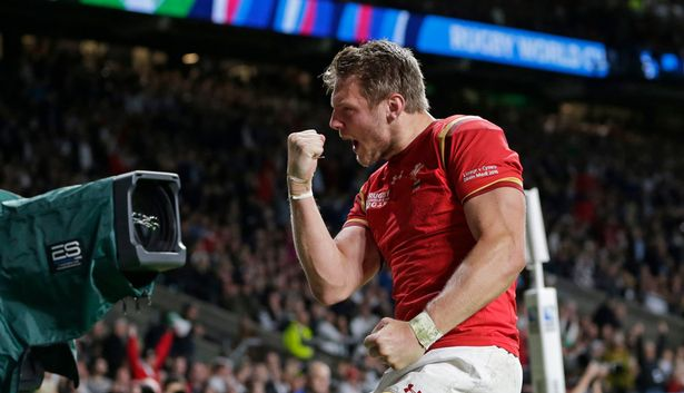Biggar celebrates Wales' seismic victory over England at 2015 World Cup
