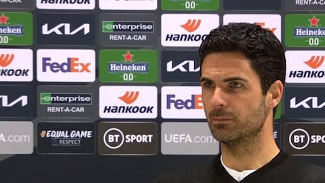 Arteta reacts to Arsenal crashing out of Europa League to Villarreal