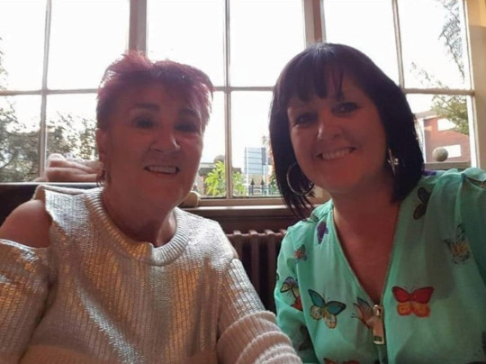 Pauline O'Connor (left) with her daughter Julie. PA Real Life/Collect