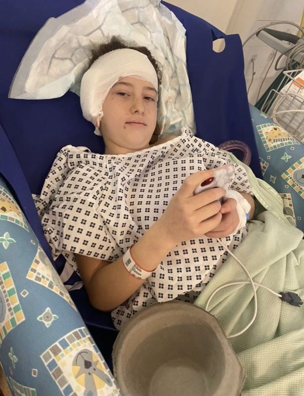 Lexie in hospital