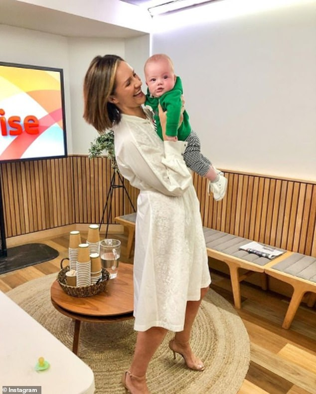 Motherhood: Jessica said:'I'm encouraged you can have both, but I'm really at the crossroads of parenthood and ambition at the moment,' she said