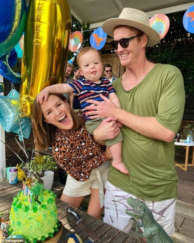 Baby's milestone: Jessica and her husband Ben, who tied the knot in Bondi back in 2017, celebrated baby Frank's first birthday on Wednesday