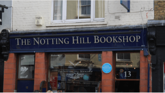Bookstore in Notting Hill