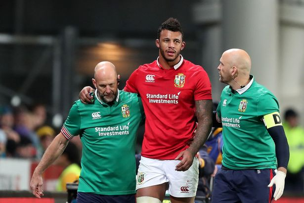 Lawes requires running repairs during Lions-Highlanders game in Dunedin four years ago
