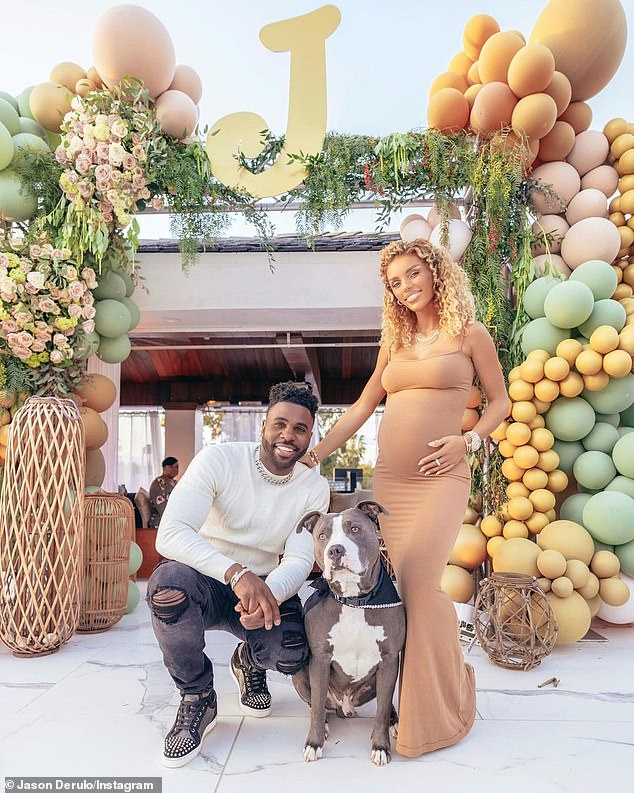 'Our baby boy already getting showered with so much love!' Last month, the Miami-born R&B belter and Jena hosted a balloon and flower-filled baby shower for their first child