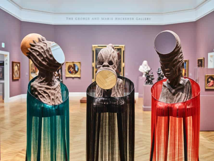 Mutu's exhibition was conceived with the San Francisco's Legion of Honor in mind.