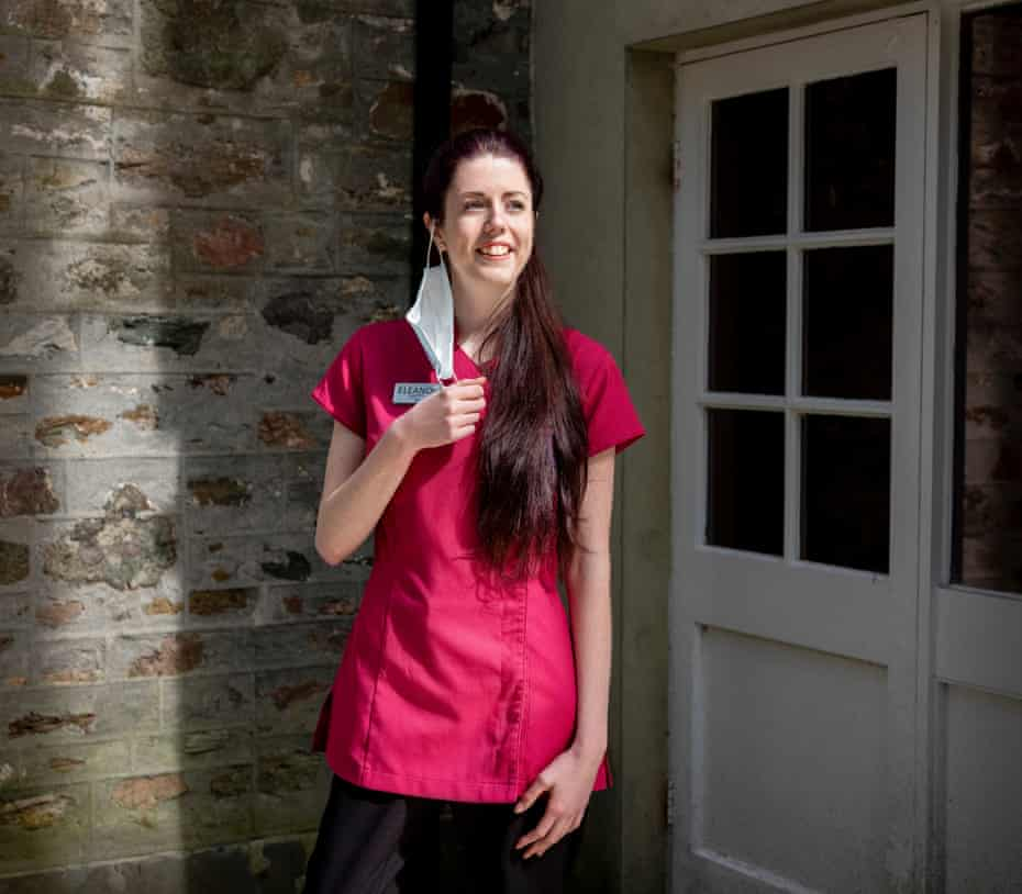 Eleanor Bartram, who works in a care home.