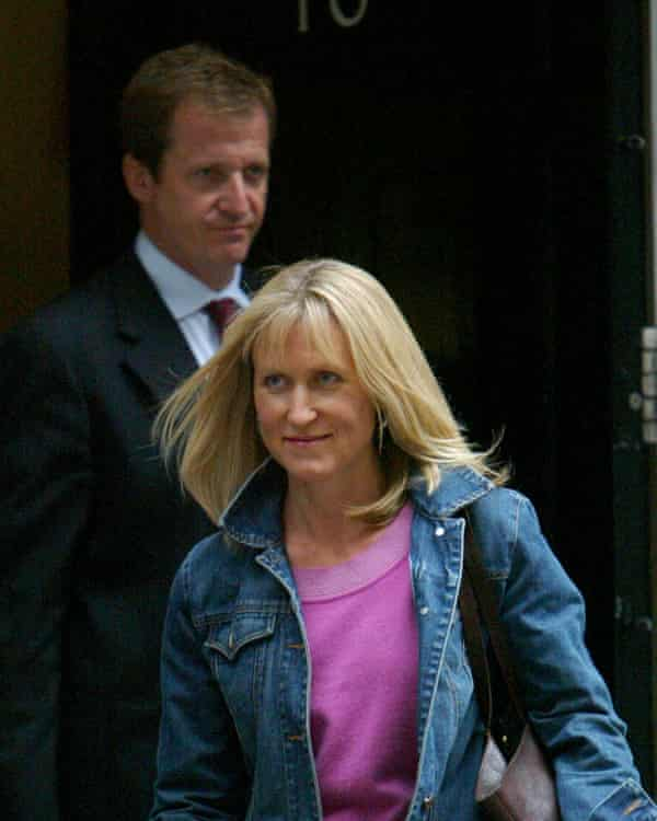 Fiona Millar leaves Downing Street with her partner Alastair Campbell