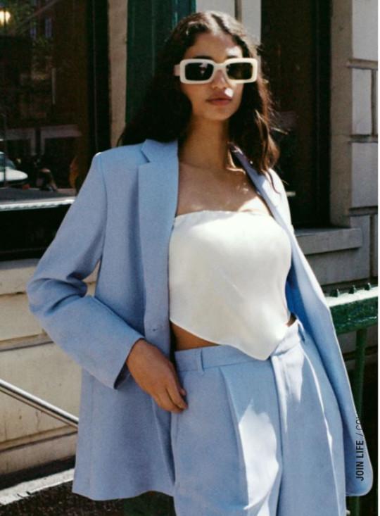 blue blazer from zara