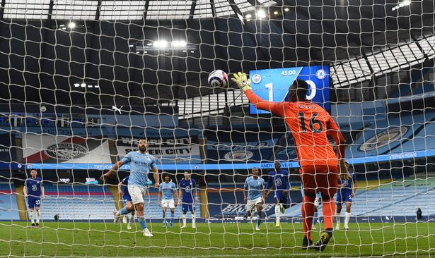 Mendy stayed put to deny Aguero a record-equalling goal