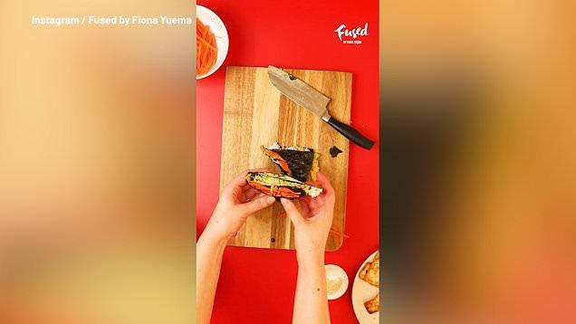 How to make a vegan folded sushi wrap