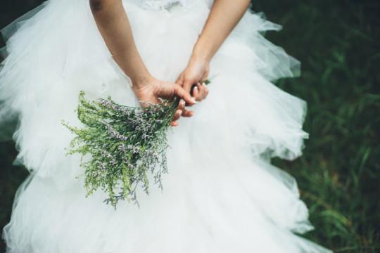 Close-Up Of Woman Wearing Dress