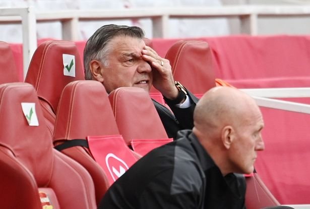 Allardyce's future in the Baggies dugout is uncertain