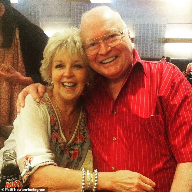 Health struggles: The 82-year-old, who has battled ill health for years, was told the surgery was a 'life or death decision', entertainment reported Peter Ford claimed on The Morning Rush with Sean and Kate on Monday. Pictured here with his wife, Patti Newton