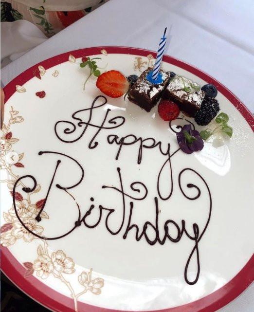 AJ Pritchard celebrates Abbie Quinnen's 24th birthday
