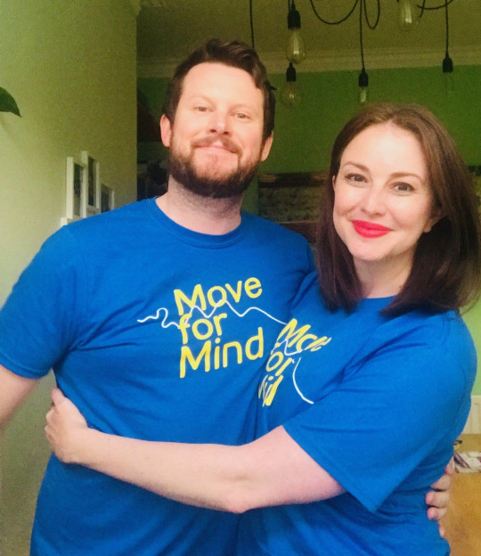 Emily and Chris in their Move for Mind tops