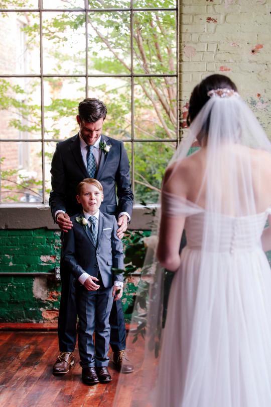 Jude Seabolt burst into tears after seeing his new stepmum Rebekah Seabolt in her wedding dress at her wedding to his father Tyler Seabolt.