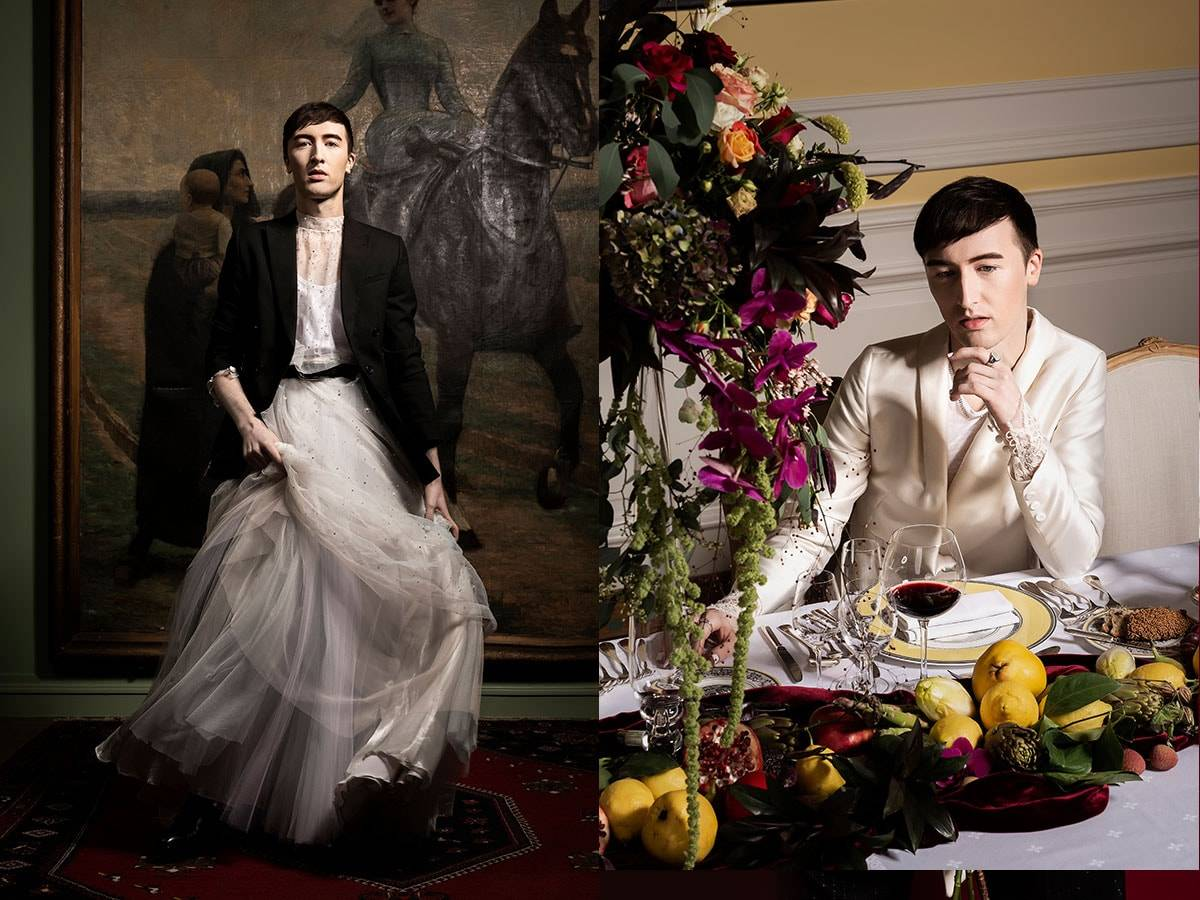 In pictures: gender-neutral bridalwear in a campaign by Eva Janssens