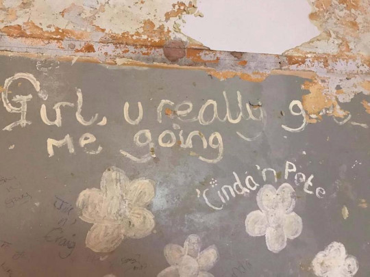Song lyrics uncovered on Virginia's old kitchen wall (Collect/PA Real Life)