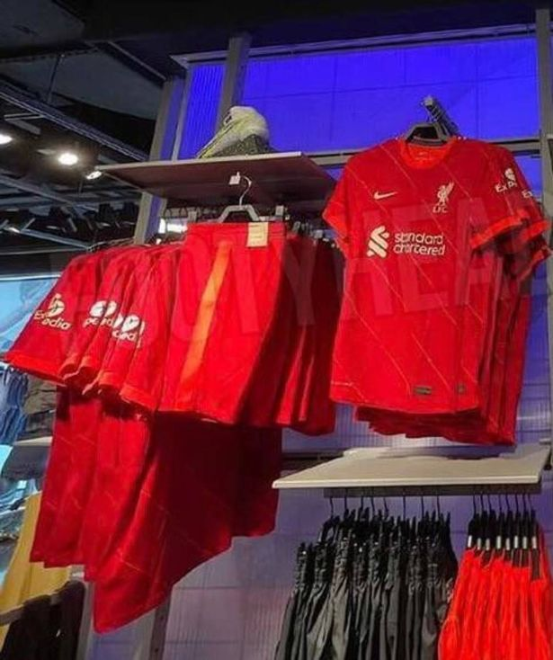 Liverpool's new home shirt and shorts have been leaked