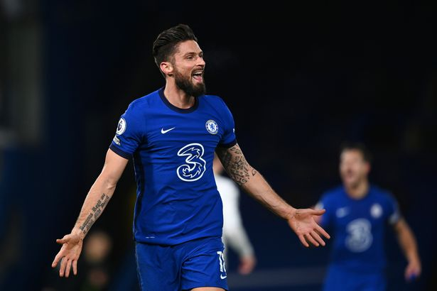 Olivier Giroud is out of contract at Chelsea this summer
