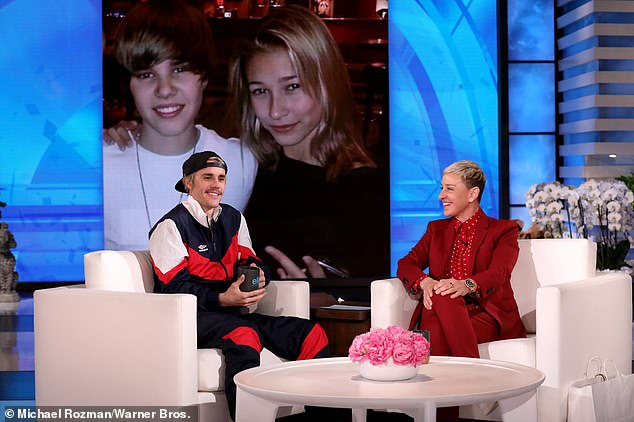 'She loved kissing a**': Ms Muskat also accused DeGeneres of being incapable of 'connecting' with everyday people, and preferred to buddy up to stars instead. Pictured with Justin Bieber